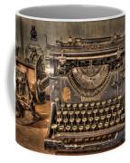 Underwood Typewriter Number 5 Coffee Mug by Debra and Dave Vanderlaan
