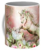 Unicorn And A Rose Coffee Mug