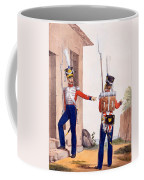 Uniform Of The 8th Infantry Regiment Coffee Mug by Charles Aubry
