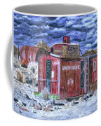 Union Pacific Train Car Painting Coffee Mug