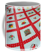 Unique Quilt With Christmas Season Images Coffee Mug