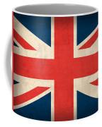 United Kingdom Union Jack England Britain Flag Vintage Distressed Finish Coffee Mug by Design Turnpike