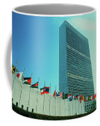 United Nations Building With Flags Coffee Mug