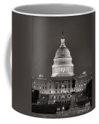 United States Capitol At Night Coffee Mug by Olivier Le Queinec