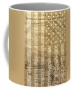 United States Declaration Of Independence Coffee Mug by Dan Sproul