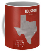 University Of Houston Cougars Texas College Town State Map Poster Series No 045 Coffee Mug