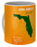 University Of Miami Hurricanes Coral Gables College Town Florida State Map Poster Series No 002 Coffee Mug