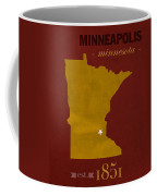 University Of Minnesota Golden Gophers Minneapolis College Town State Map Poster Series No 066 Coffee Mug