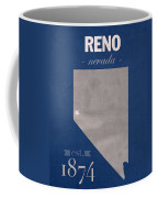 University Of Nevada Reno Wolfpack College Town State Map Poster Series No 072 Coffee Mug