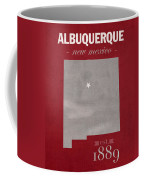 University Of New Mexico Albuquerque Lobos College Town State Map Poster Series No 074 Coffee Mug