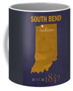 University Of Notre Dame Fighting Irish South Bend College Town State Map Poster Series No 081 Coffee Mug
