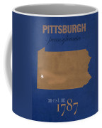 University Of Pittsburgh Pennsylvania Panthers College Town State Map Poster Series No 089 Coffee Mug