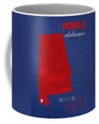 University Of South Alabama Jaguars Mobile College Town State Map Poster Series No 095 Coffee Mug