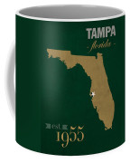 University Of South Florida Bulls Tampa Florida College Town State Map Poster Series No 101 Coffee Mug