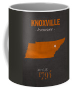 University Of Tennessee Volunteers Knoxville College Town State Map Poster Series No 104 Coffee Mug