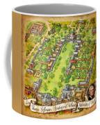 University Of Virginia Academical Village  With Scroll Coffee Mug