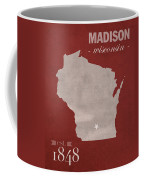 University Of Wisconsin Badgers Madison Wi College Town State Map Poster Series No 127 Coffee Mug