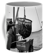 Unloading Fish From Monterey's Wharf Two Circa 1950  Coffee Mug