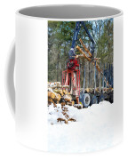 Unloading Of Logs On Transport Coffee Mug