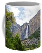 Upper Yosemite Falls From The Valley Floor In Yosemite National Park-california Coffee Mug