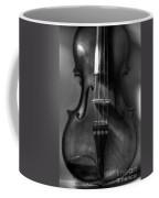 Upright Violin Bw Coffee Mug