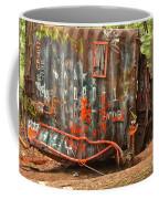 Upside Down Derailed Box Car Coffee Mug