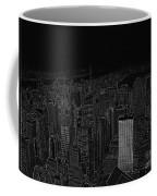 Uptown Nyc White On Black Coffee Mug