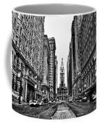 Urban Canyon - Philadelphia City Hall Coffee Mug by Bill Cannon
