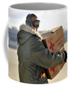 U.s. Air Force Airman Carries American Coffee Mug