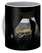 U.s. Air Force Airman Pushes Coffee Mug by Stocktrek Images
