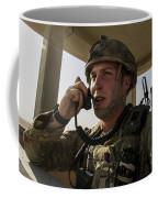 U.s. Air Force Soldier Communicates Coffee Mug