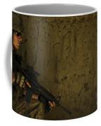 U.s. Air Force Staff Sergeant Provides Coffee Mug