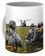 U.s. Army Paratroopers Prepare To Board Coffee Mug