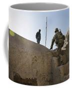 U.s. Army Soldier Climbs Stairs Coffee Mug