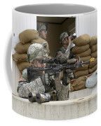 U.s. Army Soldier Looks Down The Scope Coffee Mug