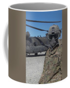 U.s. Army Soldier Stands Ready To Load Coffee Mug