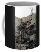U.s. Army Soldiers Set Up A Tactical Coffee Mug