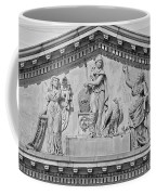 Us Capitol Building Facade- Black And White Coffee Mug