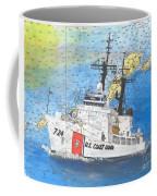 Us Coast Guard Cutter Munro Nautical Chart Cape San Blas Lighthouse Fl Nautical Chart Cathy Peek Coffee Mug