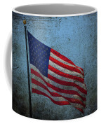 Us Flag -blue Antiqued Coffee Mug