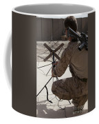 U.s. Marine Repositions A Satellite Coffee Mug