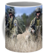 U.s. Soldiers Await The Arrival Coffee Mug