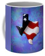 Usa Flagtexas State Digital Artwork Coffee Mug