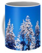 Usa, Oregon, Pine Trees, Winter Coffee Mug