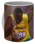 Usain Bolt 2012 Olympics Coffee Mug by Vannetta Ferguson