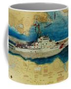Uscg Cuttyhunk Nautical Chart Art Peek Coffee Mug