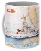 Uscg Sapelo Helicopter Fl Nautical Chart Map Art Peek Coffee Mug