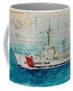 Uscgc Bibb Nautical Chart Cathy Peek Coffee Mug