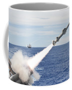 Uss Cowpens Launches A Harpoon Missile Coffee Mug