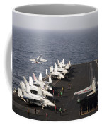 Uss Enterprise Conducts Flight Coffee Mug by Stocktrek Images